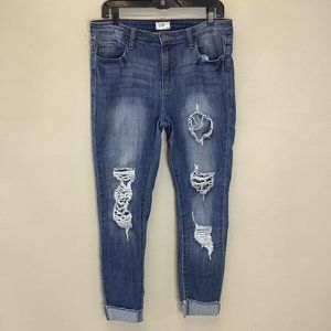 Cello Jeans Womens Size 13 Distressed Destroyed